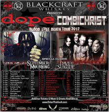 DOPE Combichrist Announce Blood Lust Death 2017 Tour Sponsored.