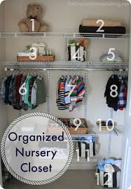 how to organize a baby s closet