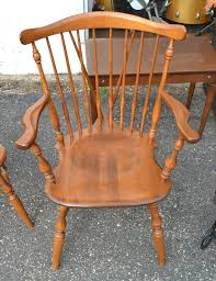 set of four in the main house ethan allen early american birch maple diningroom style arm chair ebay