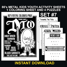 You can discover all the secrets and stories hidden in the forest full of animals. 80 S Metal Kids Activity Pages Set 7 Hairball John