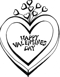 Small Picture Stars And Heart Valentine Coloring Page Valentine Coloring pages
