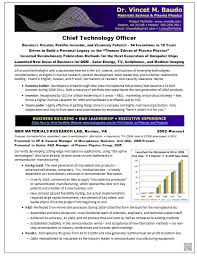 Resume Samples Chief Technology Officer (CTO) Physics