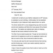 Sample Complaint Letter To A Restaurant About Poor Service Archives