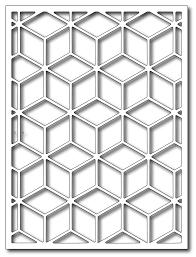 Frantic Stamper - Precision Dies - Tumbling Blocks Card Panel &  Adamdwight.com