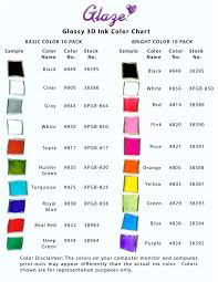 Glaze Color Chart Sakura Gelly Roll Glaze 3d Pens Colour Chart