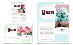 Advertising Flyers Samples Bakery Cupcake Shop Flyer Ad Template Word Publisher