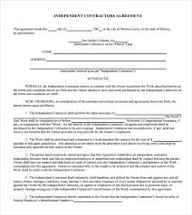 Independent Contractor Agreement Template Sample Independent Contractor Agreement 19 Documents In Pdf Word