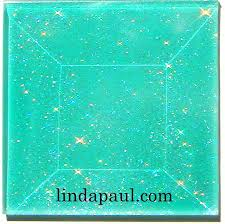 2 x 2 x 1 4 thick aqua blue sparkle sea glass tile accent beveled glass with backerboard inserts between other tile