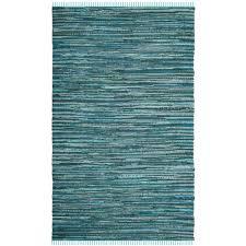 safavieh rag rug turquoise multi 5 ft x 8 ft area rug