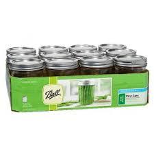 ball pint 16 oz wide mouth mason canning jars 12 pack