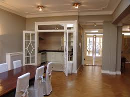 Dining Room  Pretty Slip Cover Chairs Design Plus Elegant Gray - Gray dining room paint colors