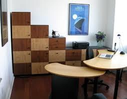 custom office furniture design. Gray Wheeled Chair Also Unique Corner Cabinet Under Sweet Picture And Varnished Hardwood Floor Fcaing Large Glass Window In Custom Home Office Designs Furniture Design L