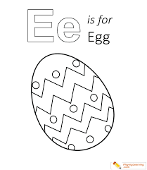 Use some nice soft pastels for an easter feel, or vibrant spring colors! E Is For Egg Coloring Page 03 Free E Is For Egg Coloring Page