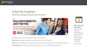 value city furniture credit card payment options synchrony
