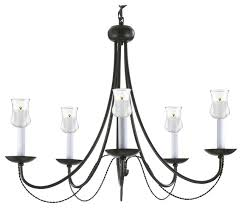 wrought iron chandelier with candle votives indoor outdoor use