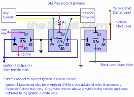 how to wire relays gm vehicle anti theft system passkey ii gm vehicle anti theft system passkey ii