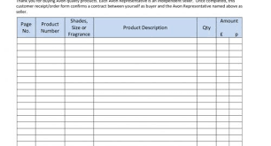 New Avon Order Form Template #nh04 – Documentaries For Change