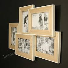 wooden wall hanging multi frame with white border for five 6 x 4 photos b075pw64dx