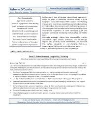 Resume For Hospitality Adorable Resume Ashwin Senior Hospitality Executive