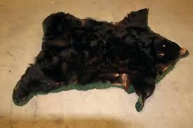 bear hide rug skin faux white