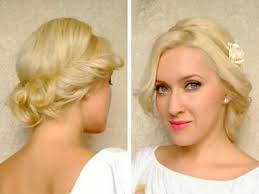 Cute Easy Curly Updo Hairstyle For Medium Long Hair Tutorial For
