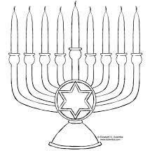 Hanukkah Menorah Coloring Page Coloring Book
