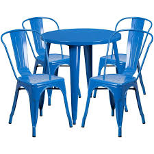 outdoor table set metal in outdoor round table set with 4 stack chairs 8 colors outdoor