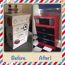 themed bedroom furniture. vintage dresser remake into a toolbox for garage themed room used red acrylic latex in cherry color and black gloss sprayed the drawer fronts bedroom furniture