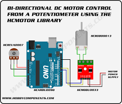 arduino control a dc or stepper motor from a potentiometer hobby wiring a potentiometer to a motor at Wiring A Potentiometer For Motor