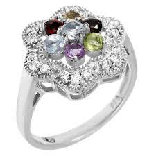 <b>Кольцо</b> Balex Jewellery из серебра с аметистом, хризолитом ...