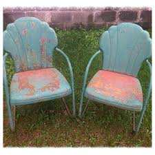 antique motel chairs. great old metal lawn chairs antique motel a