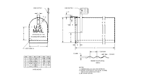 residential mailboxes side view. Detailed Drawing Of A TRADITIONAL MAILBOX. Residential Mailboxes Side View