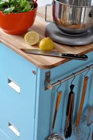 Rolling Kitchen Cabinet Make A Rolling Kitchen Cart From An Old Filing Cabinet Curbly