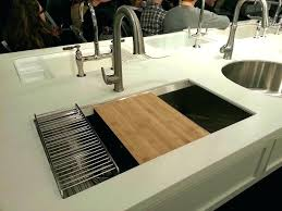 kitchen sink with cutting board kitchen sink cutting board simple chopping stainless steel with sliding elkay kitchen sink cutting board