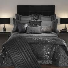 dark comforters sets target bedspreads with big wooden headboard between black pair nightlamps above sidetables