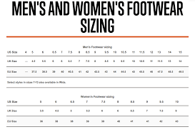 5 11 Footwear Sizing Charts G A Tactical