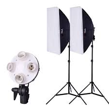kit photo light for photo photographic equipment soft light box photography studio softbox lighting stand kit