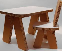 cardboard furniture design. furniture interesting tiny cardboard table and chair furnitures design for kids study desk