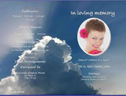 Funeral Program Template Microsoft Obituary Angel Microsoft Office Funeral Program Template Wing 13