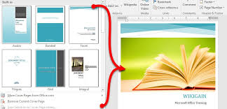 Office Cover Page How To Add Cover Page In Microsoft Word 2016 Wikigain
