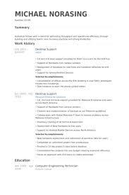 Desktop Support Resume samples