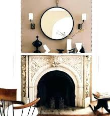 large mirror over fireplace mirror over fireplace large convex above wall large round mirror above fireplace