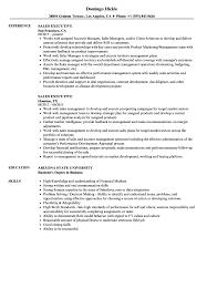 Sales Executive Resume Samples Velvet Jobs