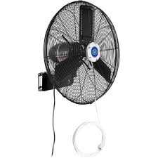evaporative coolers swamp coolers misting fans outdoor misting oscillating wall mounted fan 24 inch diameter 3 10 hp 7 700 cfm 292456