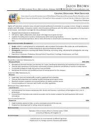 Web Designer Skills Resume Web Design Resume Sample Resume Templates
