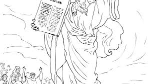 Free Printable Ten Commandments Coloring Pages Also Preschool Page