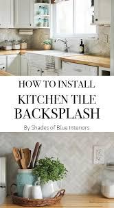How To Install Tile Backsplash In Kitchen Video