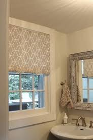 window coverings for bathroom. DIY Fabric Pull Shade, Hiding Excersize Equpiment Big One Window Coverings For Bathroom M