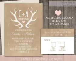 Wedding Invitation Set Templates Antler Wedding Invitations Antler Bohemian Rustic Wedding Invites
