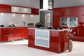Red Gloss Kitchen Cabinets Kitchen Best Of Design Interior Of Luxury Red Gloss Kitchen